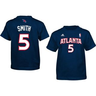 adidas Youth Atlanta Hawks Josh Smith #5 Game Time Name and Number NBA T Shirt
