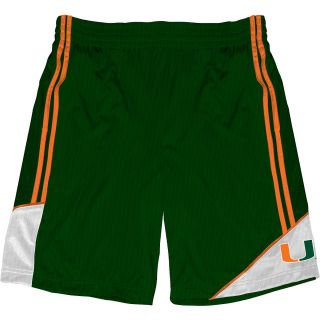T SHIRT INTERNATIONAL Mens Miami Hurricanes Pyramid Shorts   Size Medium,