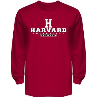 T SHIRT INTERNATIONAL Mens Harvard Crimson Reload Long Sleeve T Shirt   Size