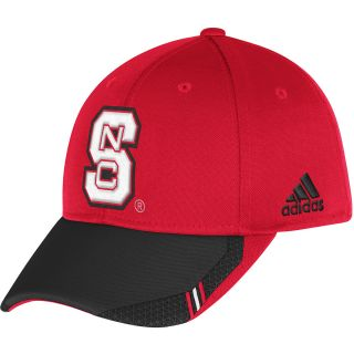 adidas Mens North Carolina State Wolfpack Sideline Coaches Flex Cap   Size