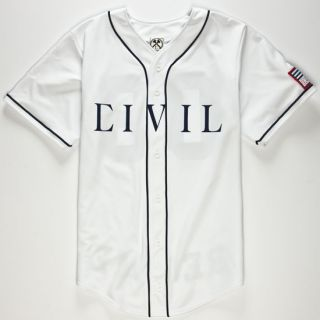 Regime Mens Baseball Jersey White In Sizes Large, Xx Large, Medium, Small