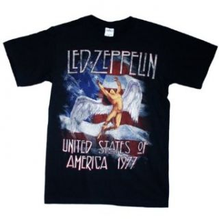 Led Zeppelin   America 1977 T Shirt Clothing