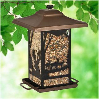 Perky Pet Wilderness Lantern Wild Bird Feeder Landscape & Garden Decor