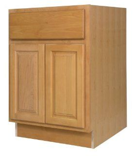 All Wood Cabinetry B24 VHS 24 Inch Wide by 34 1/2 Inch High, Factory Assembled   Ready to Install All Wood Kitchen Cabinet, Vermont Honey Spice Maple   Built In Kitchen Cabinetry