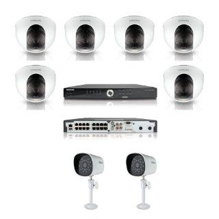 Samsung Security System SDE 5001 16Channel DVR with 1TB HDD 6 Night Vision Dome Camera and 2 Bullet Night Vision Camera  Complete Surveillance Systems  Camera & Photo