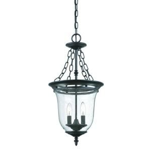 Acclaim Lighting Belle Collection 2 Light Outdoor Matte Black Hanging Lantern 9306BK
