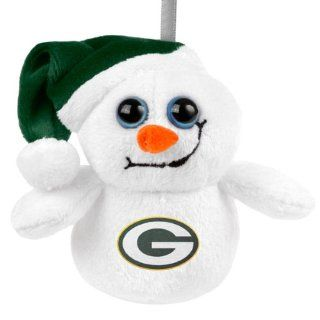 Green Bay Packers Big Eye Plush Snowman Ornament  Sports Fan Hanging Ornaments  Sports & Outdoors