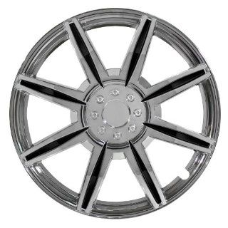 "Pilot Automotive WH541 16C BLK Chrome 8 Spoke 16"" Wheel Cover with Black Inserts, (Set of 4) Automotive"