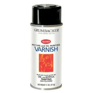 Grumbacher 541 11 Ounce Picture Varnish for Oil and Acrylic, Gloss Spray Can