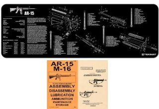 Ultimate Arms Gear Black Gunsmith & Armorer's Cleaning Work Tool Bench Gun Mat Assembly Disassembly For AR15 AR 15 AR 15 M4 M16 Rifle + .223 556 5.56 MM Machine Gun Technical Manual Book Official US Army Military Reproduction  Gunsmithing Tools An