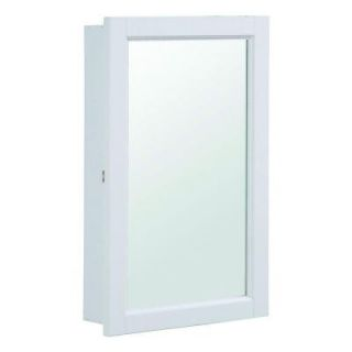 Design House Concord 16 in. x 26 in. Single Door Surface Mount Medicine Cabinet in White Gloss 590505