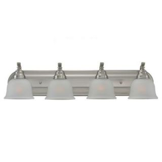 Sea Gull Lighting Wheaton 4 Light Brushed Nickel Vanity Fixture 44628 962