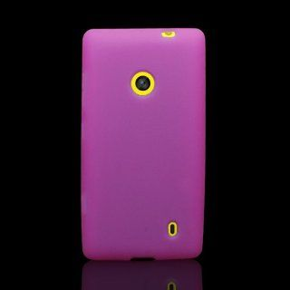 CoverON� Soft Silicone HOT PINK Skin Cover Case for NOKIA LUMIA 521 [WCH563] Cell Phones & Accessories
