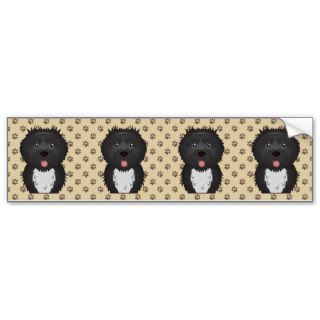 Portuguese Water Dog Cartoon Bumper Stickers