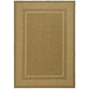 Martha Stewart Living Color Frame Coffee/Sand 4 ft. x 5 ft. 7 In. Indoor/Outdoor Area Rug MSR4127B 4
