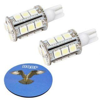 HQRP 2 pack T10 Wedge Base 18 LEDs SMD LED Bulbs Warm White for 555 558 585 655 656 657 1250 1251 1252 2450 2652 2921 2825 PC 175 2886X Replacement plus HQRP Coaster Automotive
