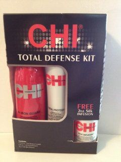 CHI Total Defense Kit 3pc. Set Silk Infusion, Total Protect, Iron Guard  Hair Care Styling Products  Beauty