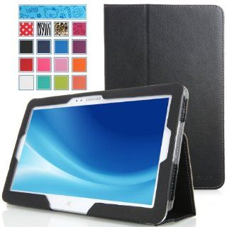 MoKo Samsung ATIV Tab 3 XE300T Case   Slim Folding Cover Case for Samsung ATIV Tab 3 300T 300TZC XE300T XE300TZC 10.1 Inch Windows 8 Tablet, BLACK (with Smart Cover Auto Wake / Sleep Feature) Computers & Accessories