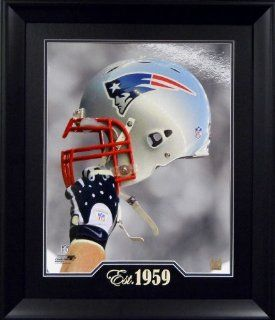 "New England Patriots NFL Football Helmet Raised High  ""Team Established Year"" 16""x 20""  Sports Fan Wall Clocks  Sports & Outdoors"