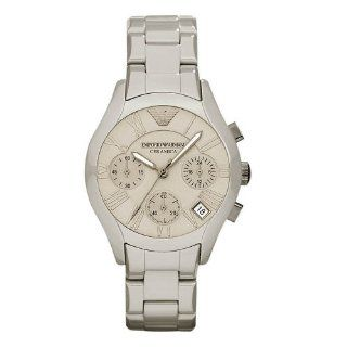 Emporio Armani AR1460 Men's Grey Ceramic Bracelet Matte Dial Chronograph Watch Watches