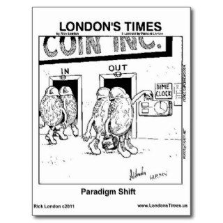 Paradigm Shift Funny Gifts Mugs Tees Cards Etc. Postcards