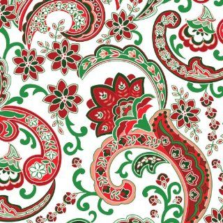 Jillson Roberts Recycled Christmas Gift Wrap, White Holly Paisley, 6 Count (XR581)  Gift Wrap Paper