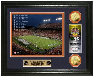 NCAA Auburn Tigers Auburn University 2011 BCS Championship Game 24KT Gold Coin Photo Mint  Sports & Outdoors