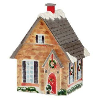 Lenox Holiday Home for the Holidays House Figural Cookie Jar Kitchen & Dining