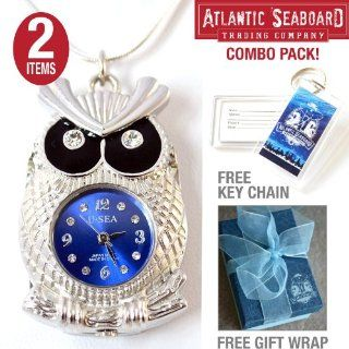 Owl USB 4.0 Flash Drive Pendant on Silver Necklace Jewelry The Official Atlantic Seaboard Trading Co. Key Chain    COMBO PACK Computers & Accessories