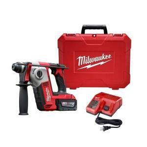 Milwaukee M18 18 Volt Lithium Ion 5/8 in. Cordless SDS Plus Rotary Hammer Kit 1 Battery 2612 21