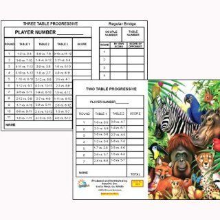 Animal Jungle Bridge Tallies (12 Pack) 2 & 3 Table Progessive Toys & Games