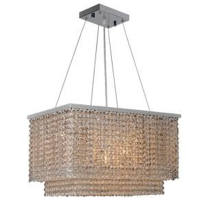Worldwide Lighting Prism Collection 9 Light Chrome Chandelier W83752C20