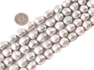 11 12mm Freeform Cream White Natural Freshwater Pearl Beads Strand 15 Inch Jewelry Making Beads