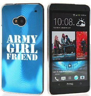 Light Blue HTC One M7 Sprint AT&T T Mobile Aluminum Plated Hard Back Case Cover 7M15 Army Girlfriend Cell Phones & Accessories