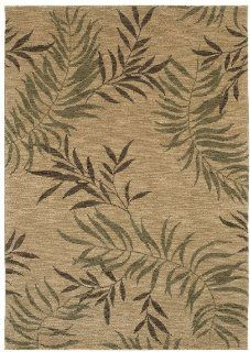 "Shaw Tommy Bahama Home Nylon Florist Greens 5'5"" x 7'9"" Beige Area Rug"