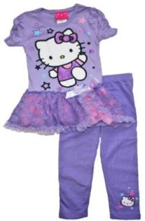 Hello Kitty Toddler Girls 2T 4T Star Tutu & Legging Clothing Set (3T) Pants Clothing Sets Clothing