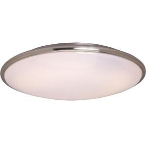 Illumine 2 Light Satin Nickel Flush Mount White Glass Shade HD MA4134949