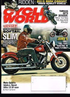 CYCLE WORLD Magazine (June 2012) Tested Harley Davidson Softail SLIM Books