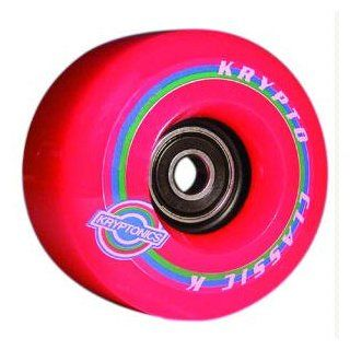 Kryptonics   Classic K Conical Skateboard Wheels (65mm)   Red, Set of 4  Sports & Outdoors