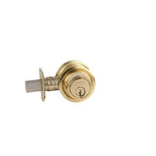 Schlage B560P 605 C Keyway Series B500 Grade 2 Deadbolt Lock, Single Cylinder Function, C Keyway, Bright Brass Finish Industrial Hardware