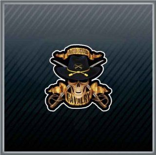 United States US Cavalry Skull Soldier Car Sticker Decal