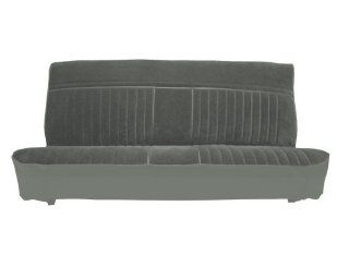 Acme U1003 G628HR Front Medium Gray Vinyl Bench Seat Upholstery with Charcoal Regal Velour Pleated Inserts Automotive