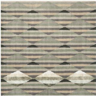 Safavieh CHT630A Chatham Collection Wool Square Area Rug, 7 Feet, Grey/Multi
