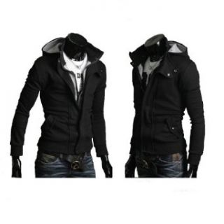 Mens Casual Buckle Top Designed Jacket Hoodie Slim Fit Fashion Sweatshirt at  Men�s Clothing store