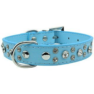 Parisian Pet Pharaoh 2R Diamond Dog Collar, 15mm, Blue  Pet Fashion Collars