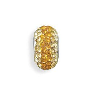 Sterling Silver Graduated Yellow to Gold Crystal Bead Vishal Jewelry Jewelry