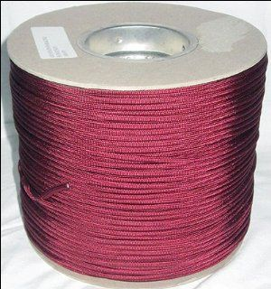 1, 000 ft Spool 650 Parachute Cord Paraline 4 Strand   BURGUNDY  Tactical Paracords  Sports & Outdoors