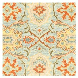 Safavieh Heritage Collection HG734A 9 Handmade Light Blue and Ivory Hand Spun Wool Area Rug, 8  Feet 3 Inch by 11  Feet