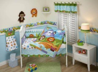 Fisher Price Precious Planets 4 Piece Crib Bedding Set New Born, Baby, Child, Kid, Infant  Infant And Toddler Apparel Accessories  Baby
