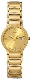 Rado R30528253 Watch Centrix Ladies   Gold Dial Stainless Steel Case Quartz Movement Watches
